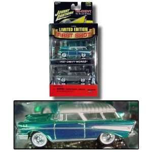 FIRST SHOT JOHNNY LIGHTNING 1957 chevy nomad GREEN Toys & Games