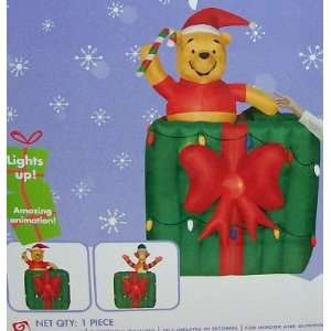 6ft Airblown Inflatable Animated Christmas Disney Pooh