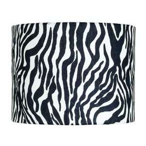 Extra Large Drum Lamp Shade in Zebra Baby