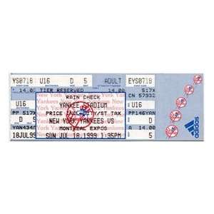 18, 1999 New York Yankees Yankee Stadium Ticket