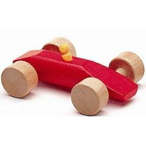 NIC Wooden Toys   Red Wooden Race Car Speedy Toys & Games