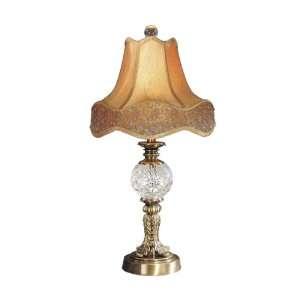 Dale Tiffany PT50117 Archer Crystal Lamp, Antique Brass