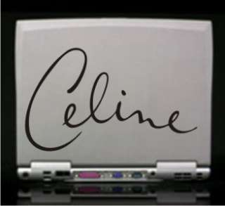 Celine Dion Signature Vinyl Decal Sticker 14 Colors