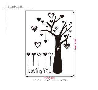 LOVE TREE Home Decor Art DIY Vinyl Wall Decal Sticker