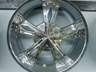 22 22X9 ICE METAL WHEELS CHROME RIMS NEW
