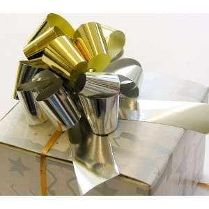5 METALLIC GOLD & SILVER PULL BOW   Case of 50