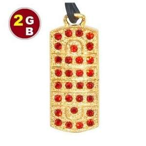 2GB Luxury Crystal Jewelry Flash Drive (Yellow