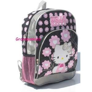 Sanrio Hello Kitty Large Backpack School Book Bag Black & Pink  Toys