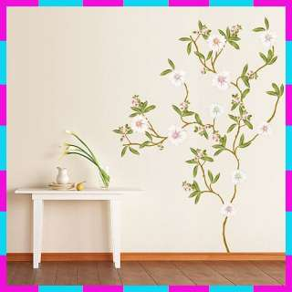 KR 0019 FLOWER TREE WALL PAPER ART DECOR DECALS STICKER