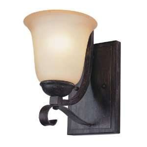 Trans Globe 1 Light Wall Sconce in Antique Brown Rust Finish   3681