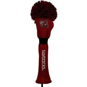 South Carolina Gamecocks Garnet Pompom Golf Club Headcover