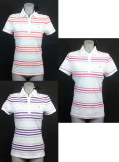 NEW NWT TOMMY HILFIGER WOMENS STRIPED POLO SHIRT