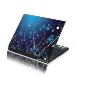 Laptop Notebook Skins Sticker Cover H981 Blue Vines (Brand