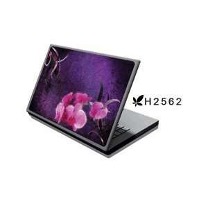 Laptop Notebook Skins Cover H2562 Pink Flowers (Brand New