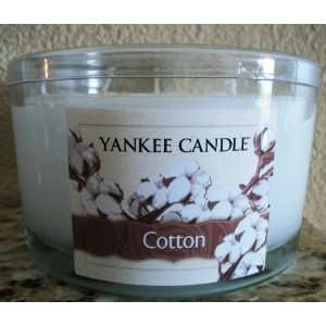 Yankee Candle 17 oz 3 Wick Jar Candle COTTON Retired Scent