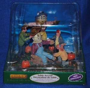 Lemax~Harvest Fall Autumn~Building A Scarecrow~NIB~LOOK