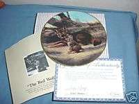 The Red Wolf by Will Nelson Collector Plate