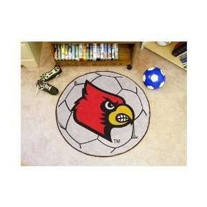 Louisville Cardinals 29 Soccer Ball Mat