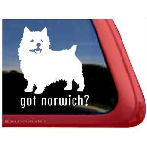 Got Norwich? ~ Norwich Terrier Vinyl Window Auto Decal