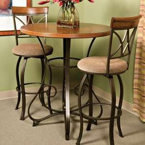 Powell Furniture Cafe Hamilton Pub Table in Matte Pewter