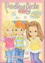 Best Friends Forever Precious Girls Club Sticker Play Book to Color