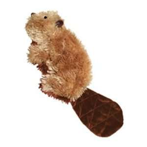 Kong Plush Squeaker Beaver Dog Toy   Large