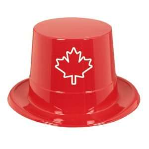 Red Plastic Maple Leaf Top Headpiece Toys & Games