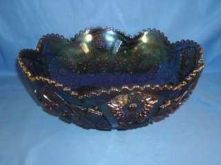 Vintage Imperial Hobstar Purple Carnival Glass 10 Bowl