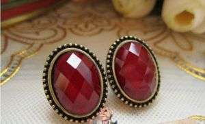 Gk4746 New Fashion Jewelry womens red Vintage Small earrings stud