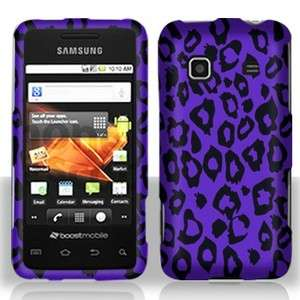 Purple Leopard HARD Case Protector Snap on Phone Cover Samsung Galaxy