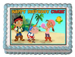 JAKE AND THE NEVERLAND PIRATES Edible Cake Party Image
