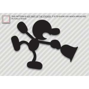 (2x) Mr Game & Watch   G&W   Sticker   Decal   Die Cut