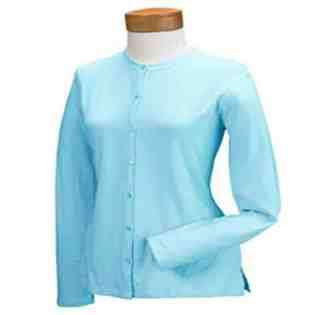 medium women s stretch jersey long sleeve cardigan meadow medium