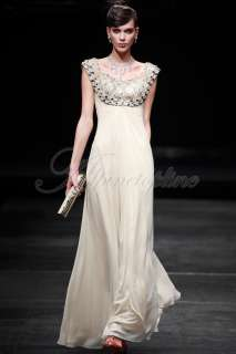 22 Size Elegant Womens Rhinestone Formal Party Prom Long Dress