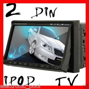 dash Car Stereo DVD Player Head Unit Radio Ipod Bluetooth Touch Screen