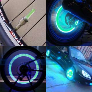 Bicycle Moto Car Tire Spoke Wheel Flash Green LED Light