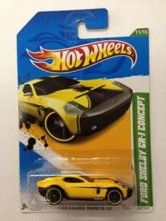 HOT WHEELS 2012 J Case C4982 72 Cars FORD SHELBY GR 1 CONCEPT TREASURE
