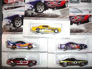 HOT WHEELS 2012 MUSCLE RACING SERIES 5 CAR SET MUSTANG FASTBACK