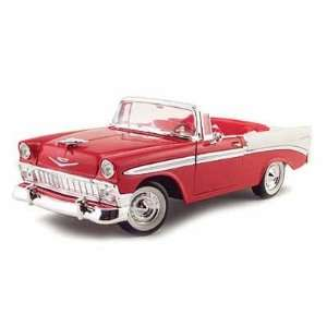 1956 Chevy Bel Air Convertible 1/18 Red Toys & Games