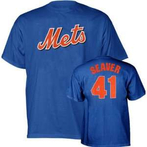 Tom Seaver Majestic Cooperstown Throwback Player Name and