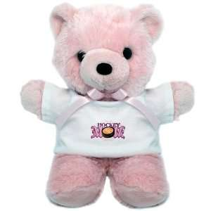 Teddy Bear Pink Hockey Mom
