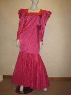 ~Hot Pink Satin&Lace Mermaid Lg Gown MAE WEST, DIVINE, DRAG