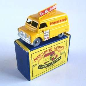 MATCHBOX MOKO LESNEY 42 BEDFORD EVENING NEWS VAN, MIB