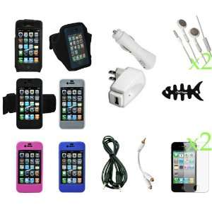 Charger and Cable Screen Protector Kit   17 Item Combo Pack for Apple