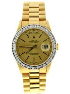 Authentic Rolex 18038 Day Date President Solid 18K Yellow Gold Men