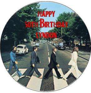 THE BEATLES ABBEY RD EDIBLE IMAGE CAKE ICING TOPPER