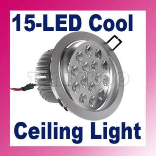 New 15*1W High Power 15 LED Ceiling Light Down Recessed Lamp Cool