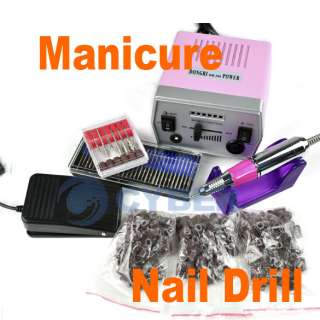 Pro Nail Art Drill File Manicure+Improved Electric Set