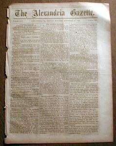 1863 Virginia Civil War newspaper BATTLE of CHICKAMAUGA at Chattanooga