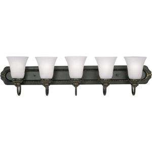 Progress Lighting Huntington Collection Forged Bronze 5 light Vanity